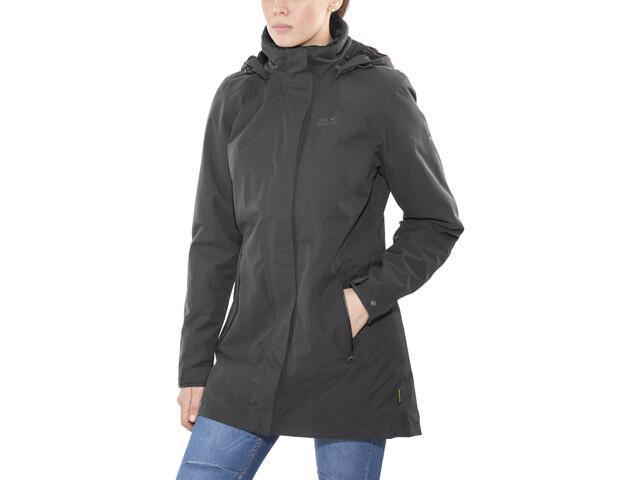 lage prijs verkoop tijdloos design geweldige prijs Jack Wolfskin Madison Avenue Hardshell Coat Women phantom